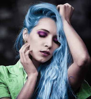 Hair, Blue Hair, Beautiful hair, girls hair, hair style, dye