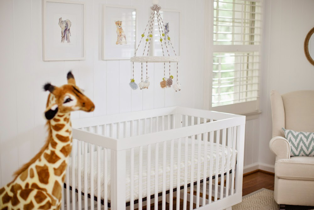 Darling 3-Month-Old and His Safari Themed Nursery