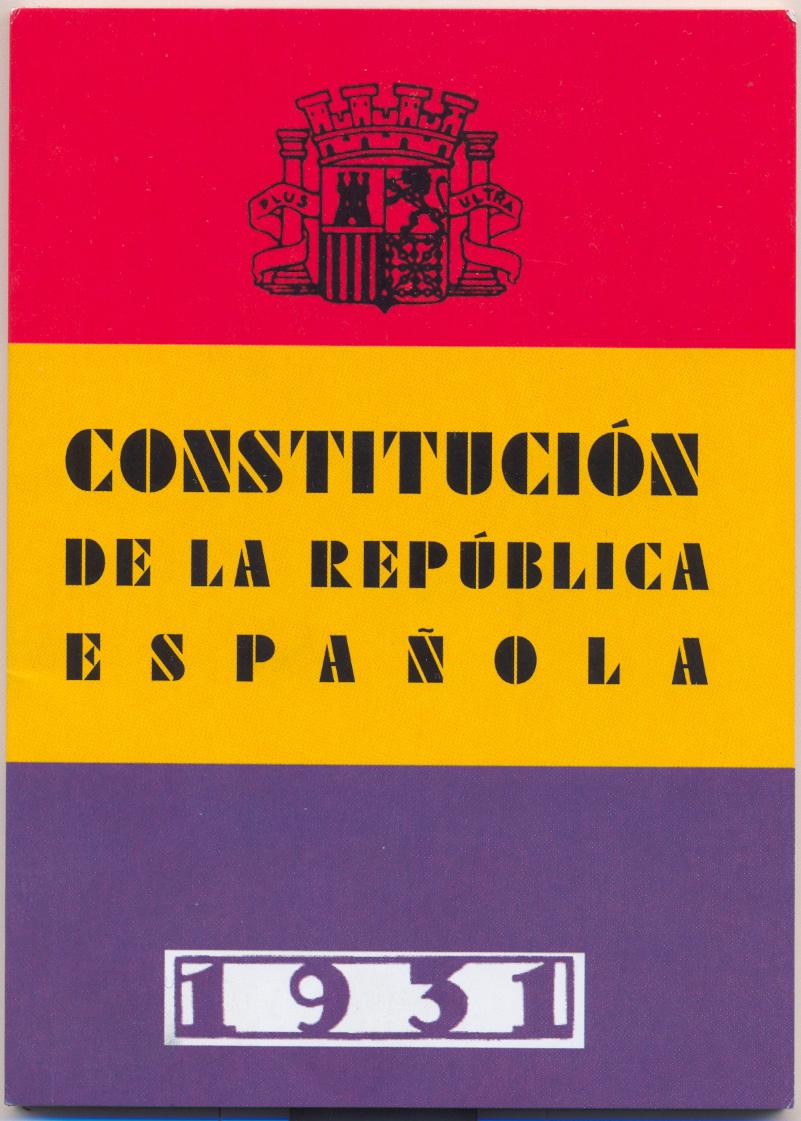 9 de diciembre 1931 Constitución de la II República