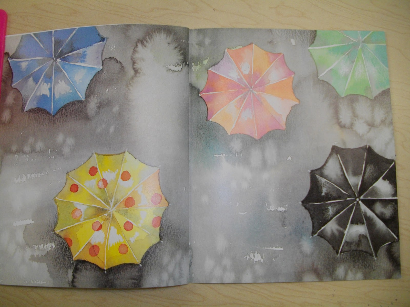 An open door rainy days for Watercolor art ideas