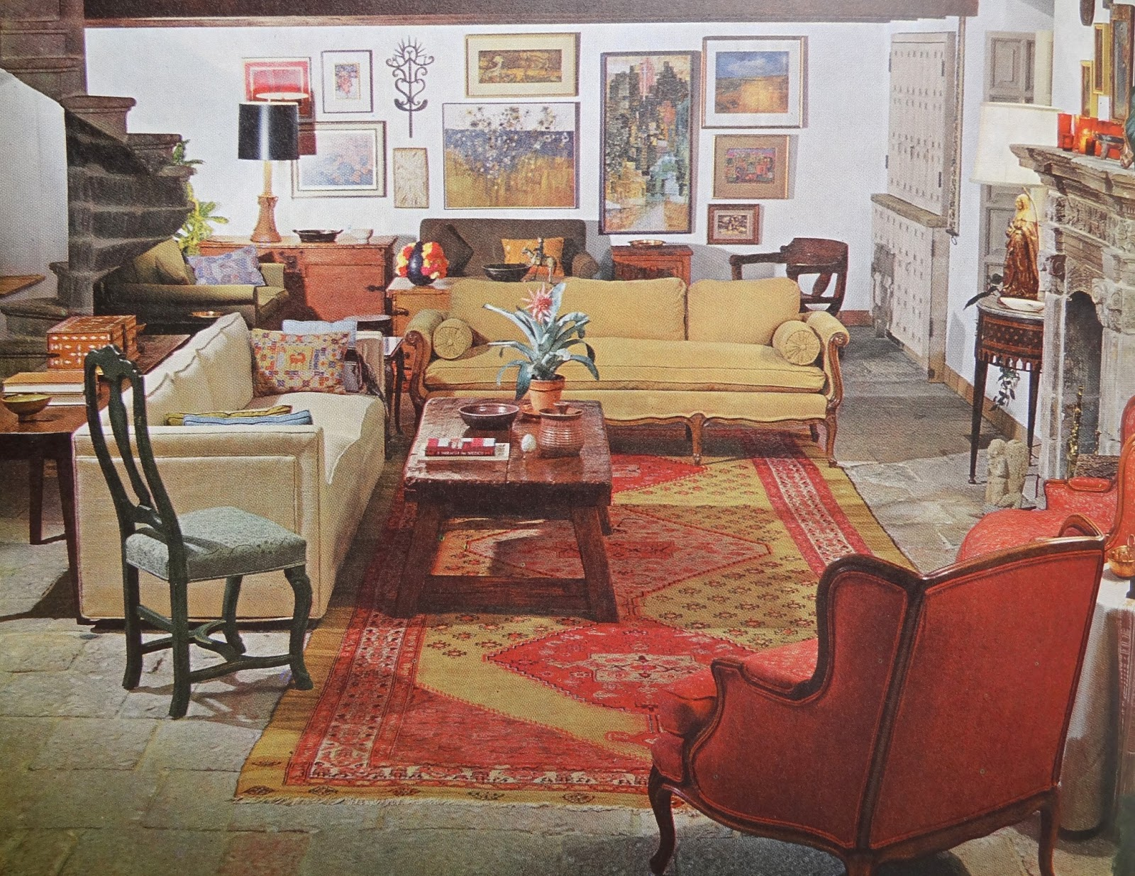 Gypsy yaya lovin 70 39 s design house gardens complete for 70s living room furniture