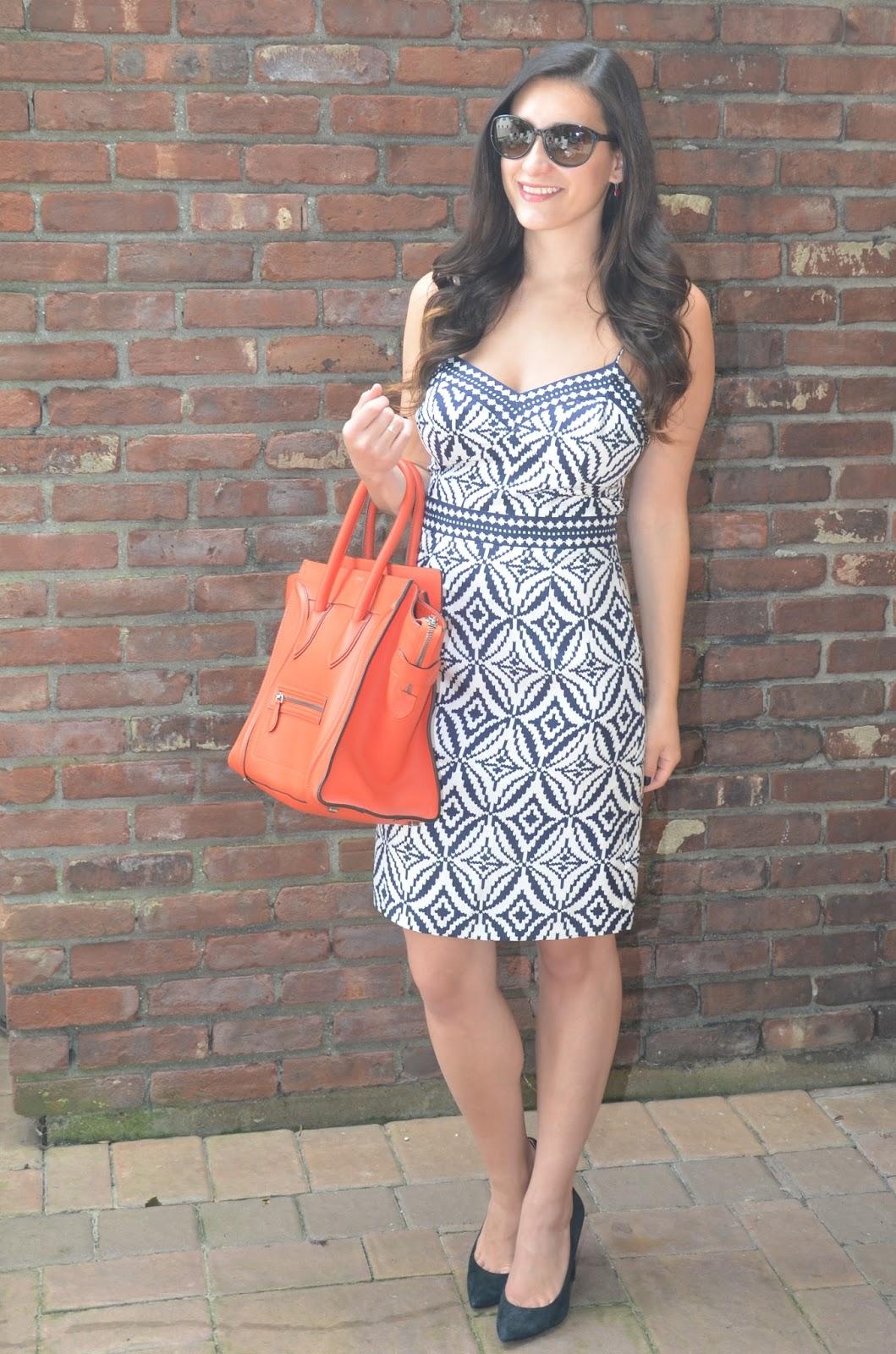 spring 2008 milly dress + vermilion celine