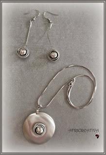 Parure perla argento
