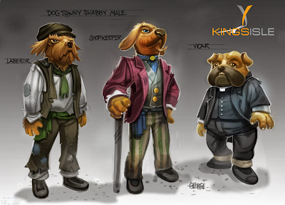 Pirate101 Marleybone Concept Art Dogs