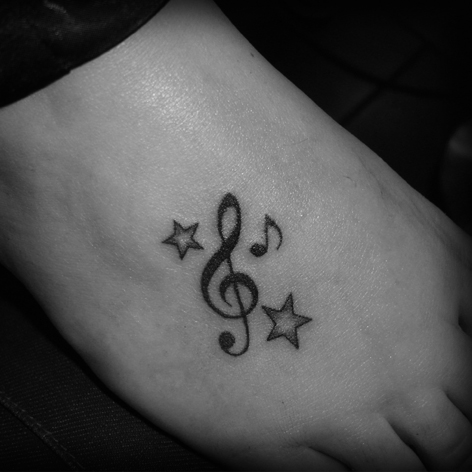 Tatto on Piano Music Note Tattoos   Find A Tattoo Blog