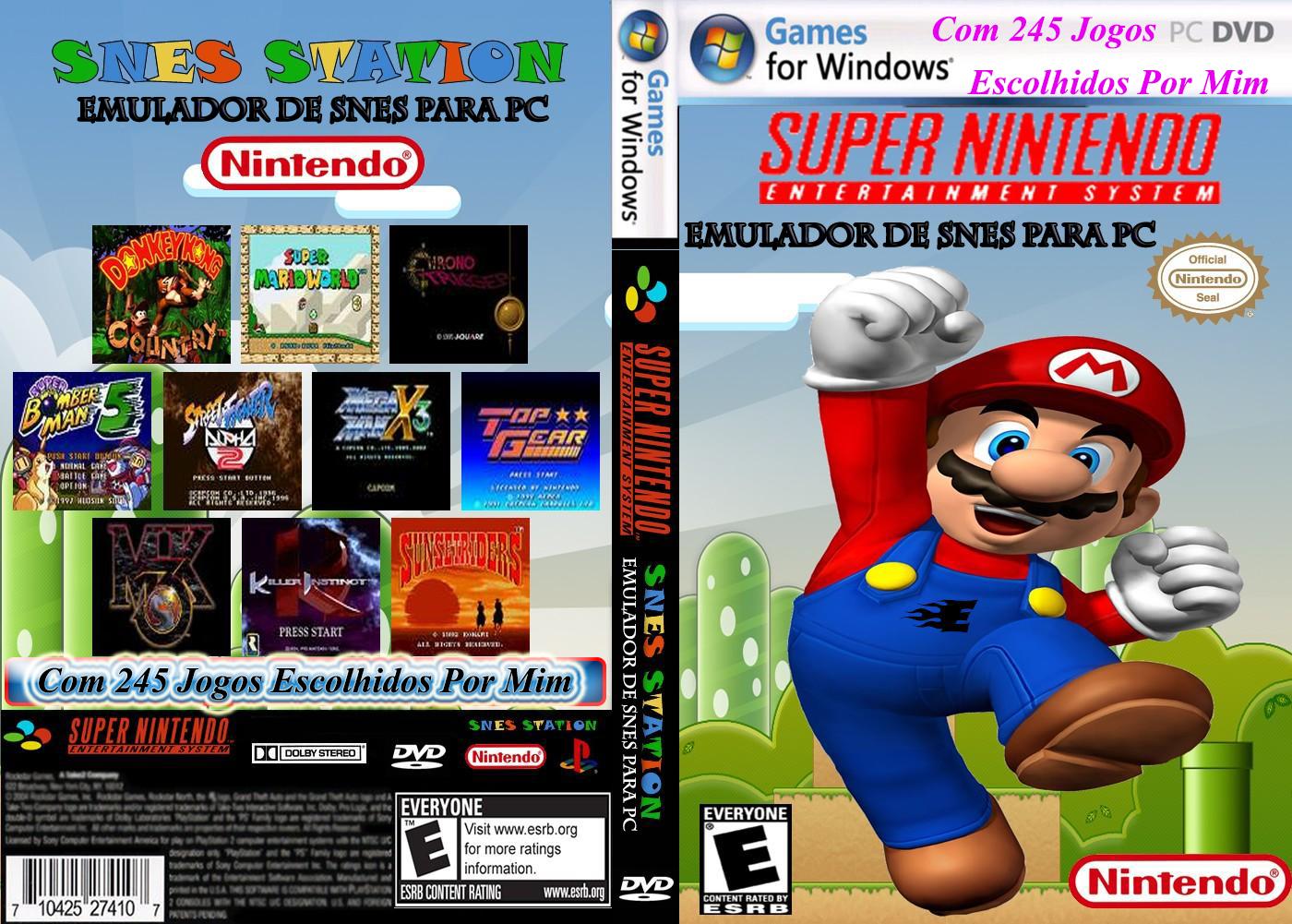 Emulador Snes9x+245 Jogos PC DVD Capa