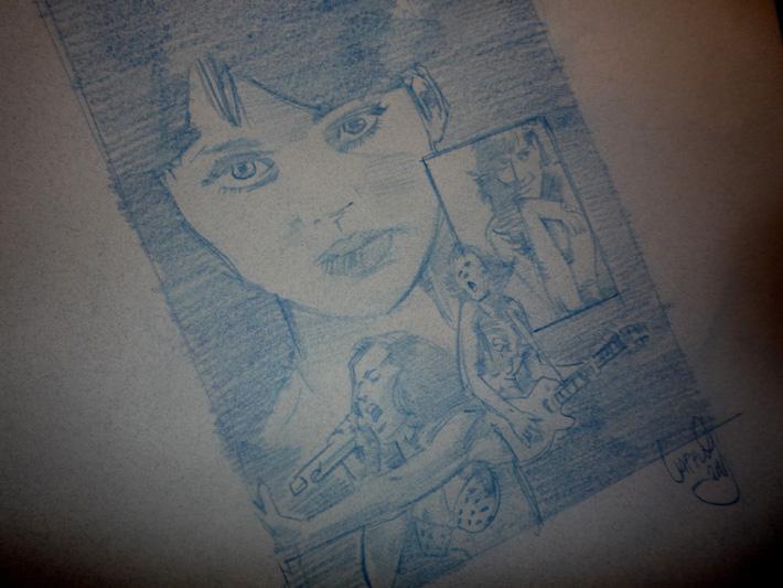 Katy Perry, Original Art by Jeff Lafferty