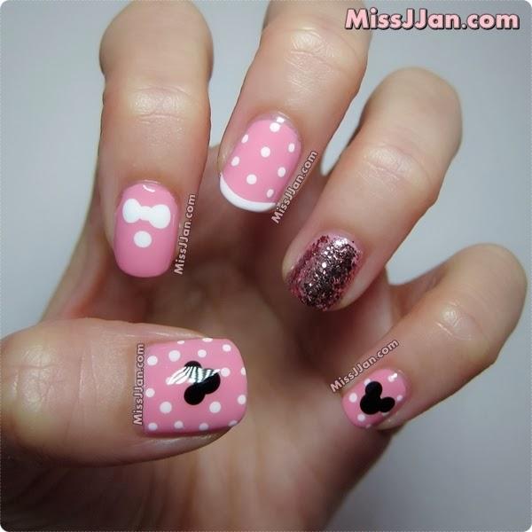 MissJJan\'s Beauty Blog ♥: Disney Minnie Mouse Inspired Nail Art ...