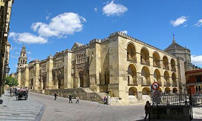 Masjid Cordoba, Sepanyol. Mezquita de Córdoba, exterior del muro de la quibla.