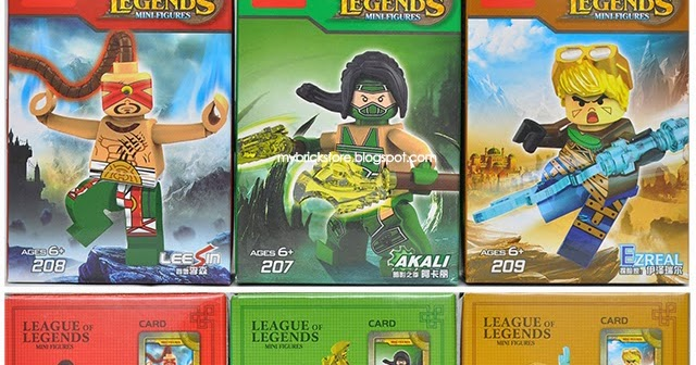 My Brick Store: Decool 207-209 League Of Legends Minifigures