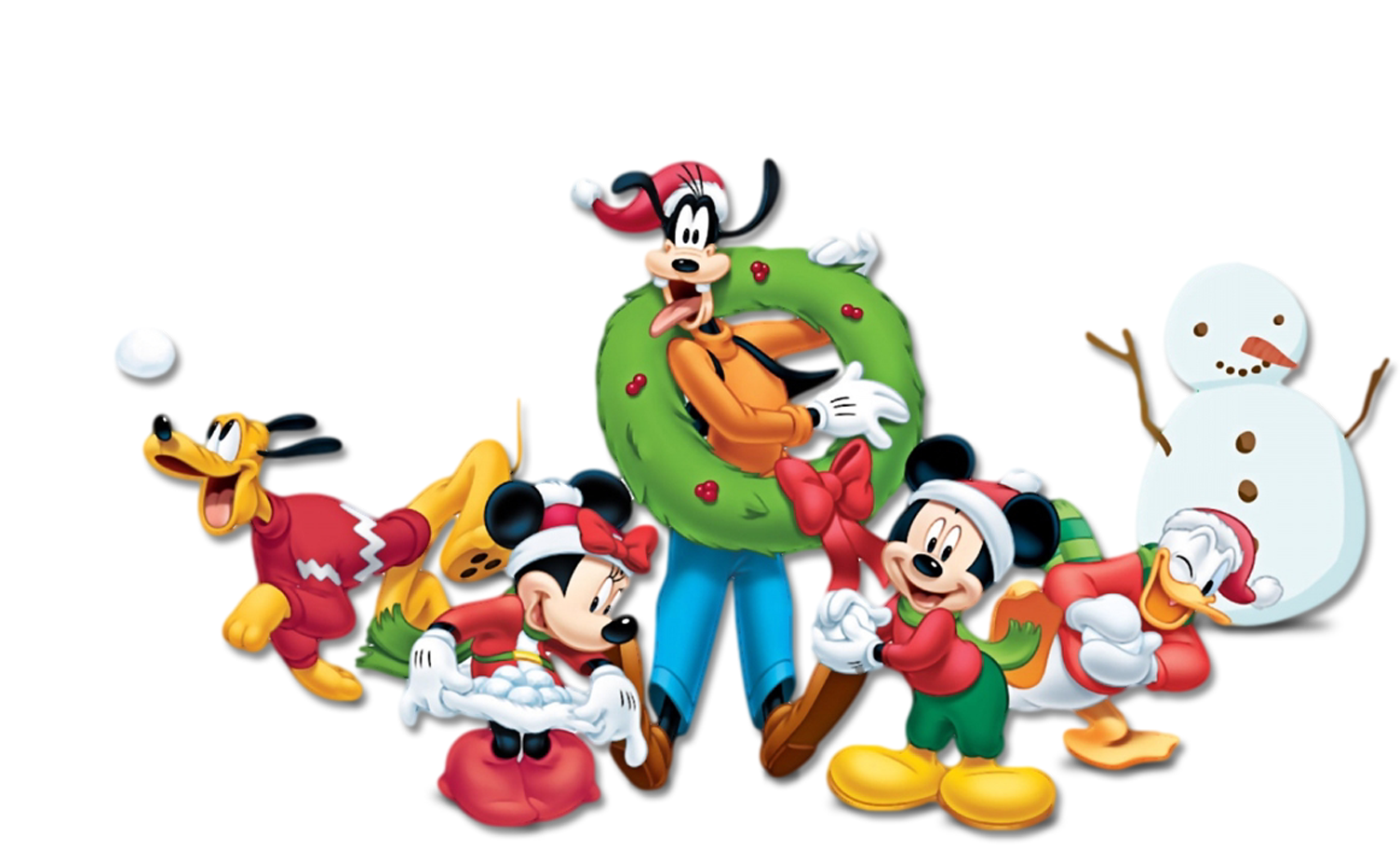 Mickey and friends for christmas free printable invitations or cards