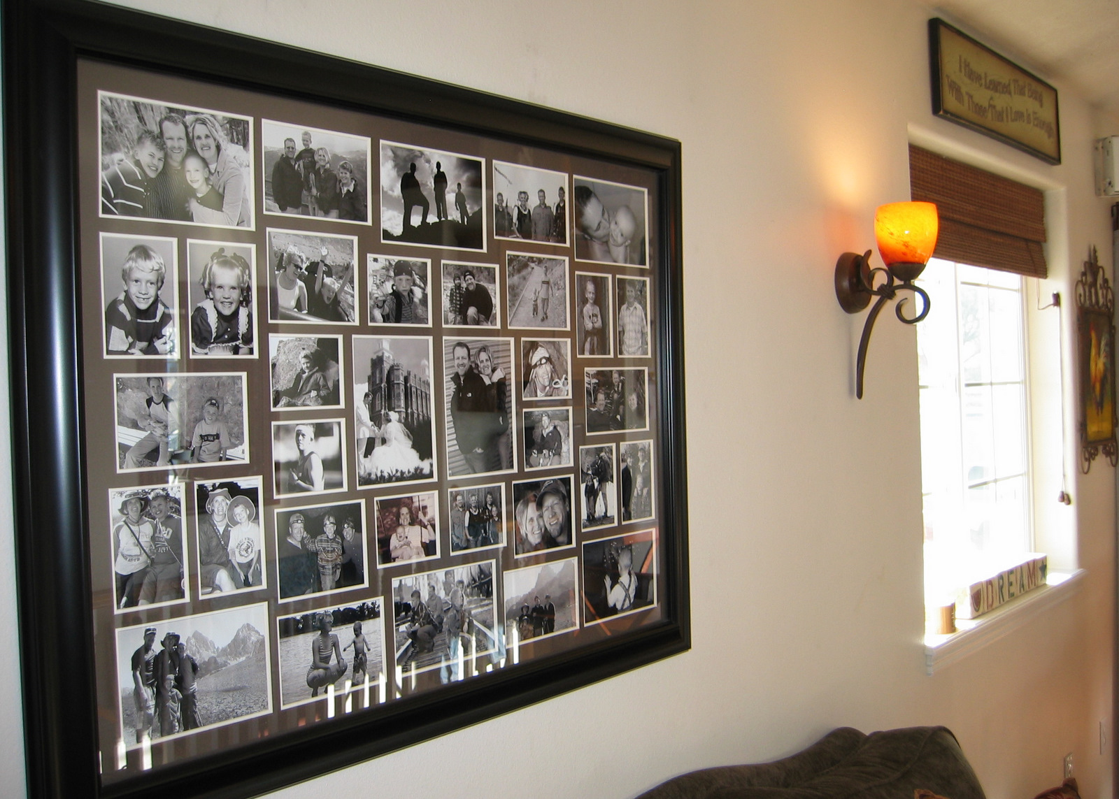 wall collage frame that we have had since christmas 2010