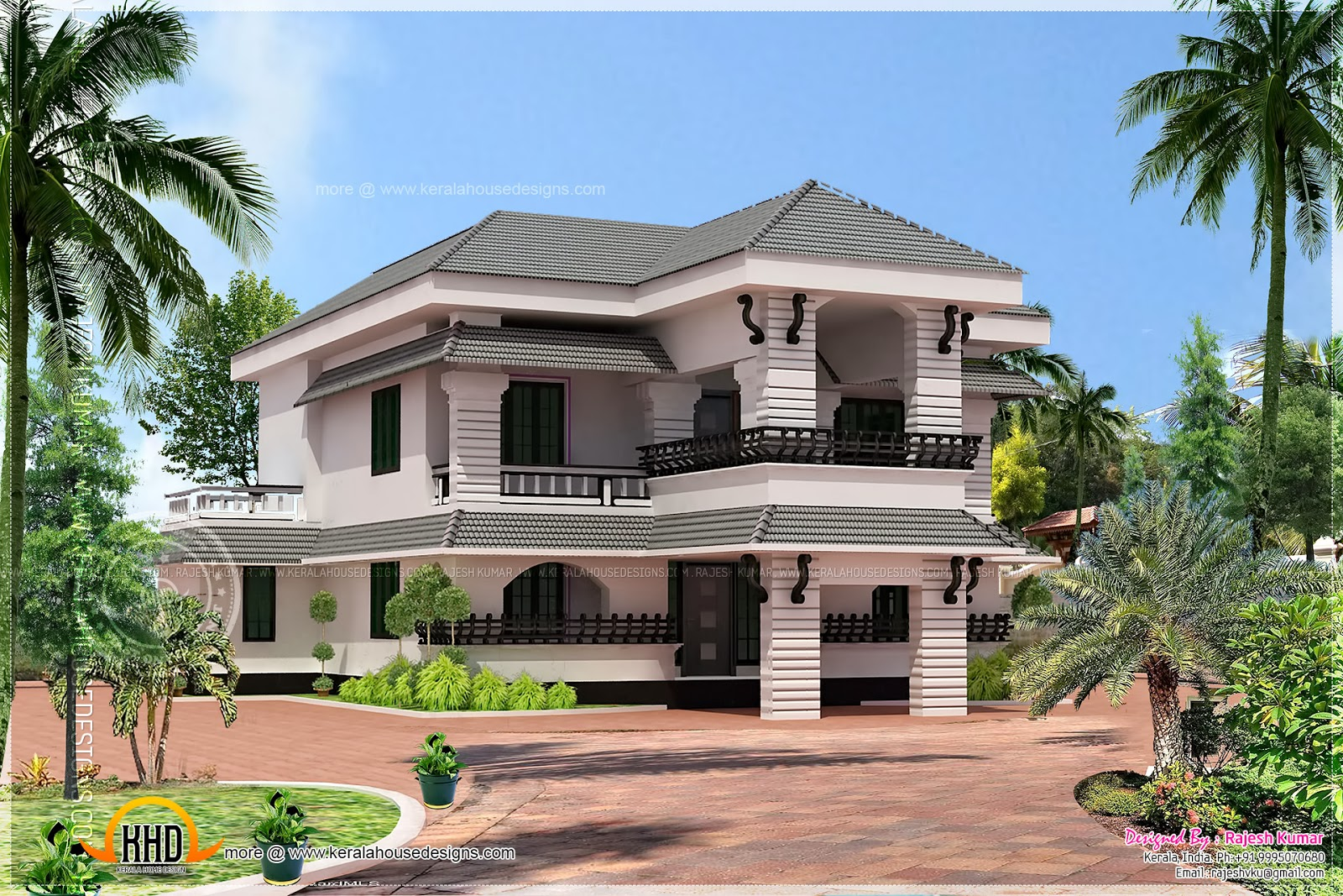 Malabar model home design kerala home design and floor plans for Designer in the house