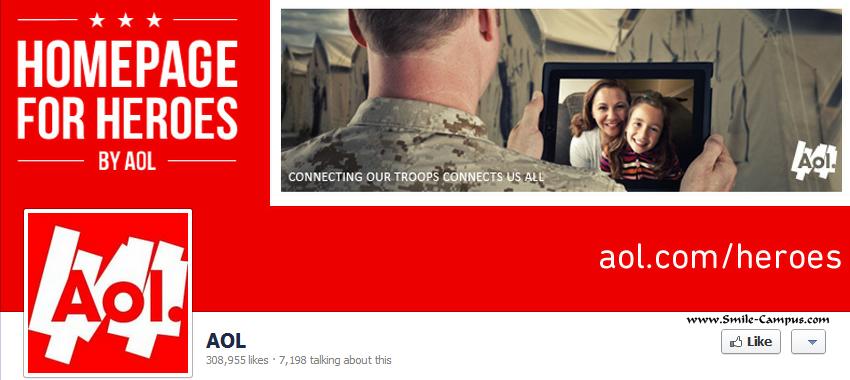 Aol.com Facebook Timeline Page