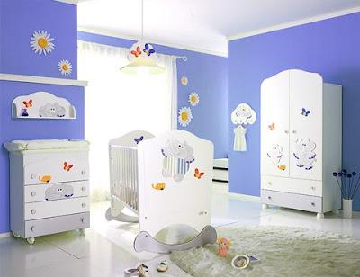 Habitaci n de bebe color celeste dormitorios con estilo - Colores para habitacion de bebe ...