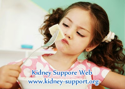 The best treatment of kidney failure with poor appetite