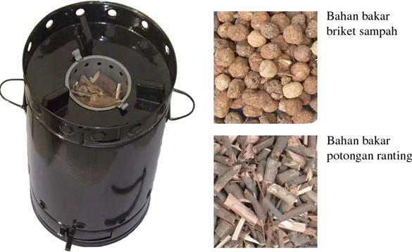 kompor biomass dengan sistem preheating dan regulator kompor biomass ...