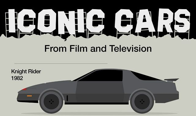 Image: Iconic Cars From Film And Television #infographic