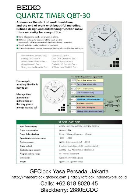 SEIKO Programmable Clock QBT-30