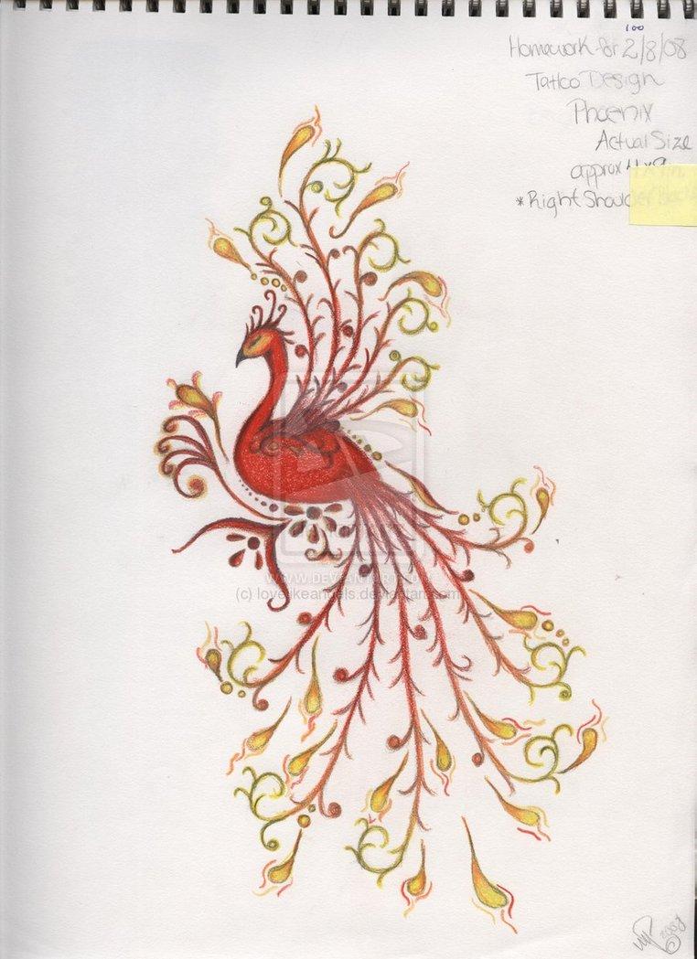 Татуировка феникс - 50 фото. Мистическая символика, значение и