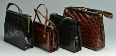 crocodile vintage handbag