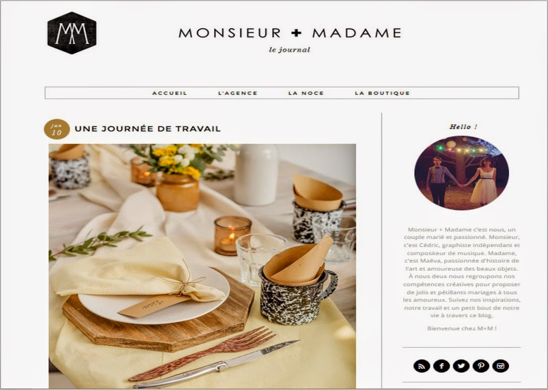 Blog Mariage Monsieur plus Madame inspiration wedding idées ThatsMee.fr