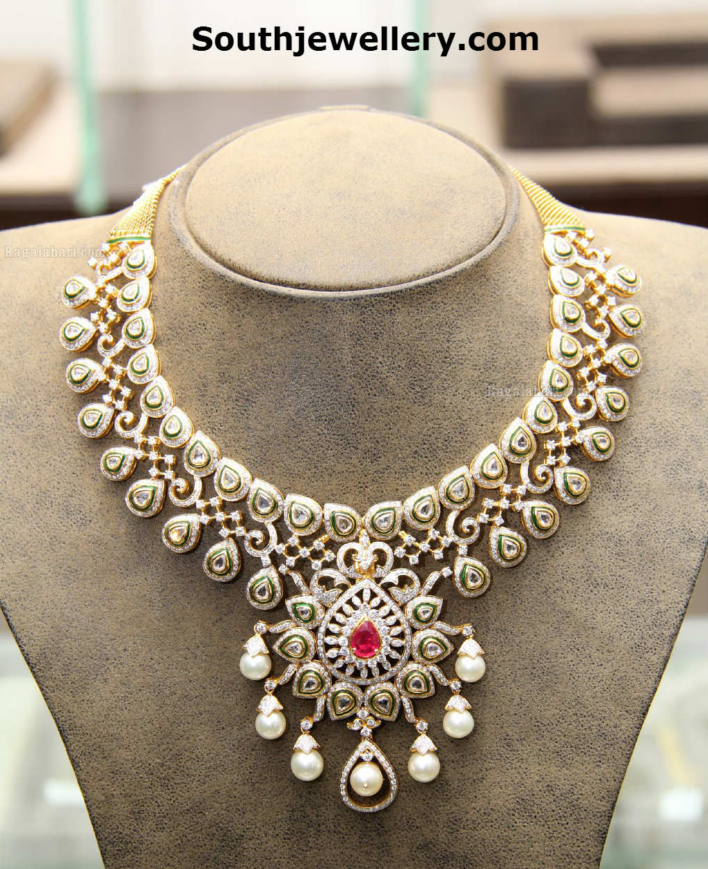 Indian Gold Jewellery Necklace Designs With Price: Gold: South Indian Jewellery Designs With Price