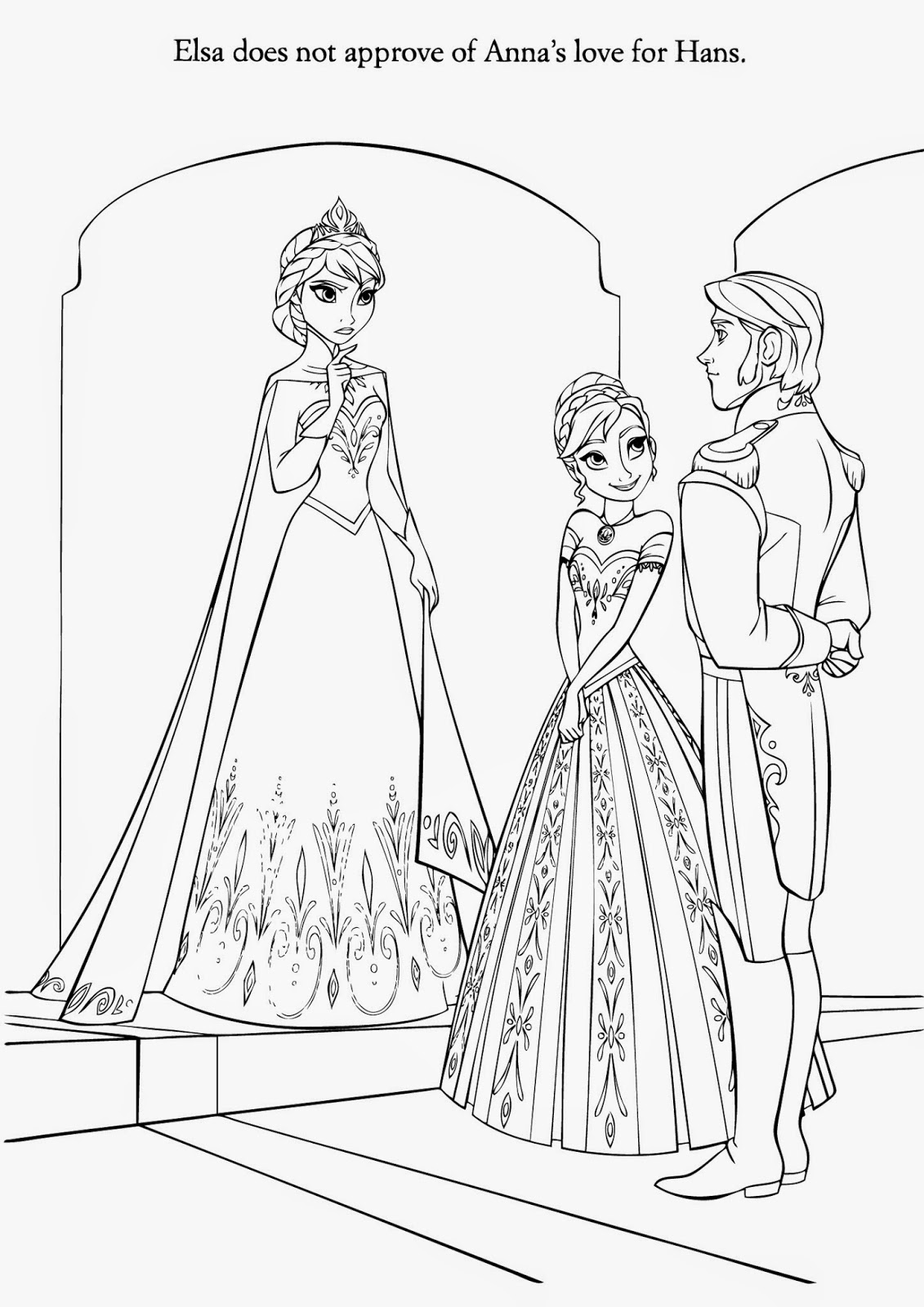 movie frozen free coloring pages - photo#9