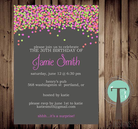 Adult Birthday Invites 121