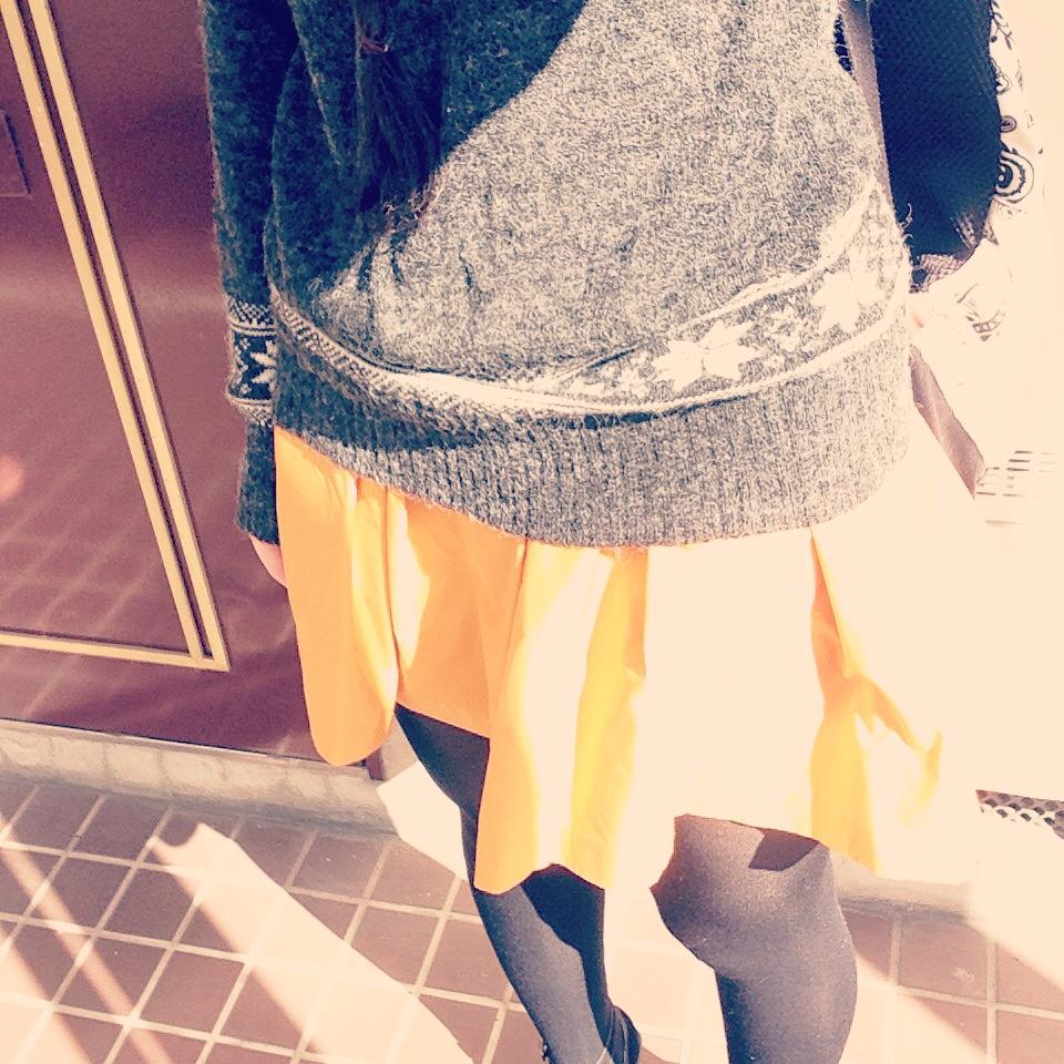 冬セーターを出しました。