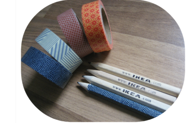 DIY LAPICES DEL IKEA WASHI TAPE IDEAS