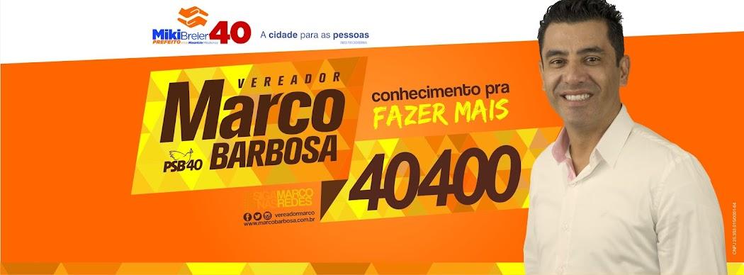 Vereador Marco Barbosa