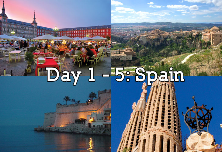 Tour Itinerary Spain