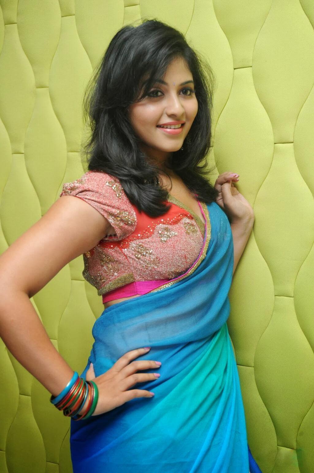 Anjali in saree, south actress in saree