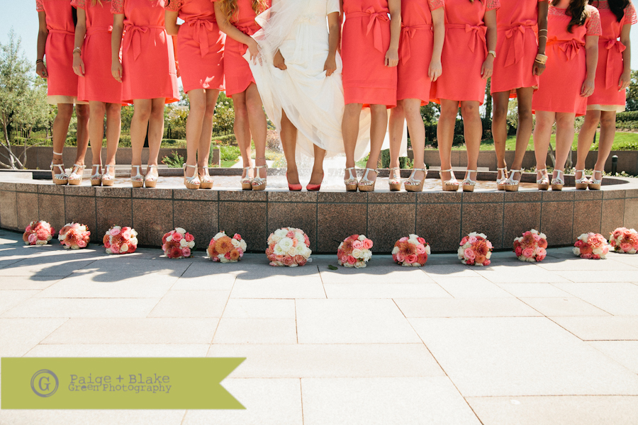 Bride and Bridesmaids shoes and bouquets  : Photo by Paige and Blake Green