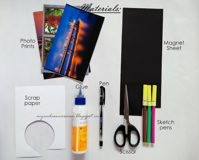 DIY personalized photo magnets materials to use
