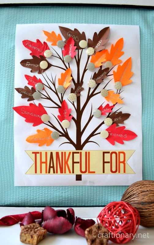 Thankful tree with free printables