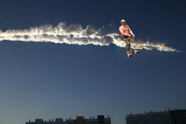 meteor blast in Russia photo