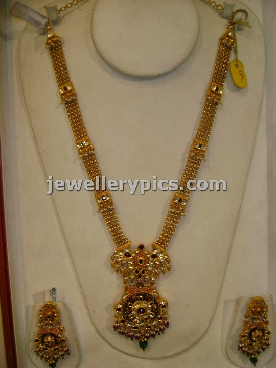 traditional haram design at sri mahalaxmi jewellers