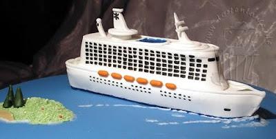 Kreuzfahrtschiff aus Zucker