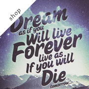 Dream - Limited Edition Stretched Canvas Quote Art Print by Promopocket on Etsy