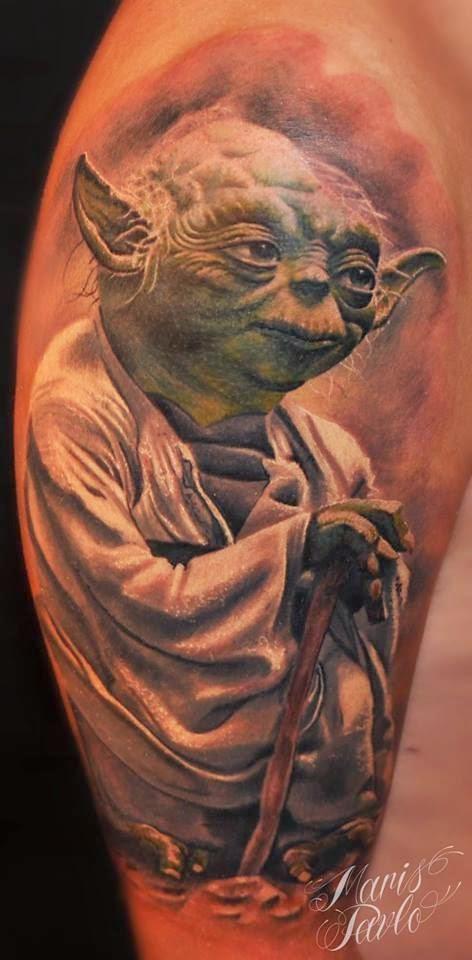 Tatuaje Maestro Yoda