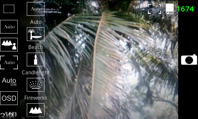 Android Camera App - Scene Modes