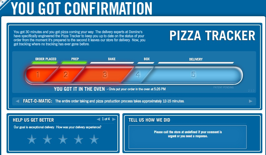 how to order later dominos