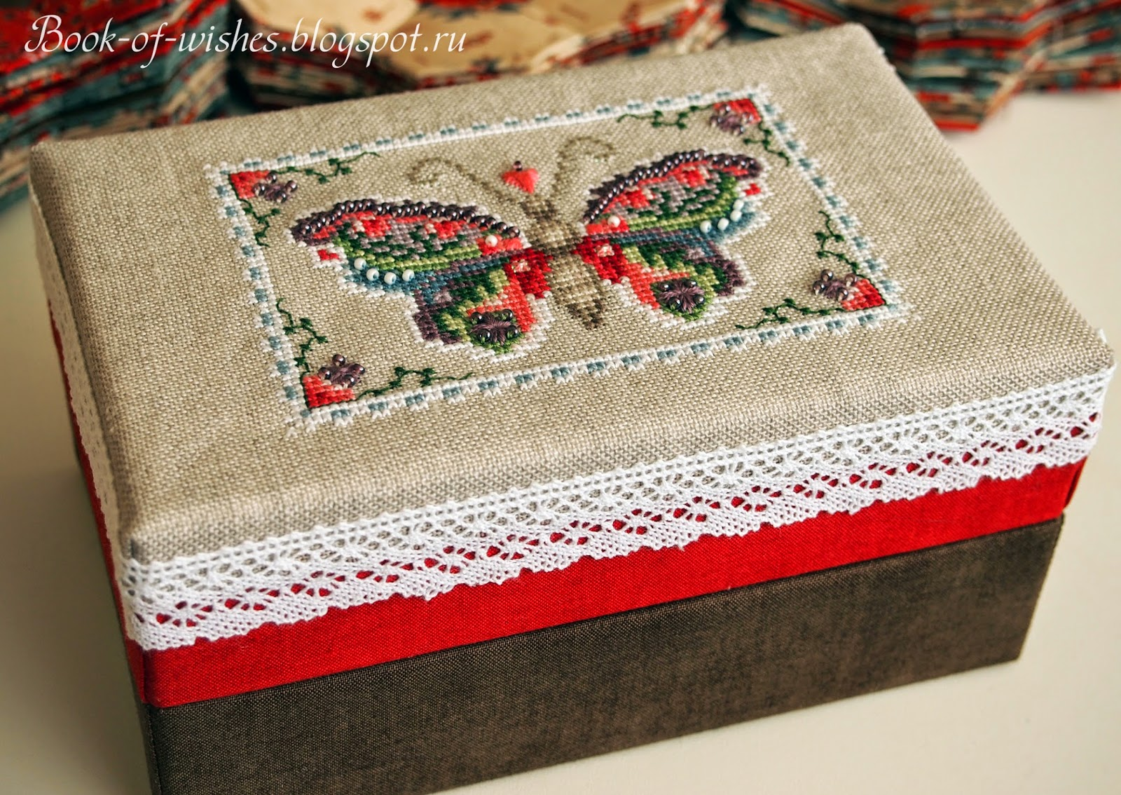 box for needlework Just Nan Flying colors