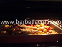 Salau la cuptor cu legume preparare reteta