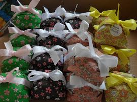 DECORAÇÃO EM PAPEL JAPONÊS - kit com 4 cores