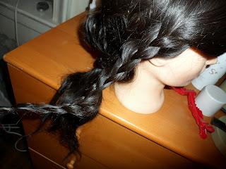 Hair braiding hairstyle