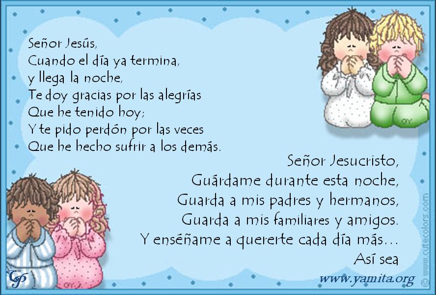 Oracion De Dios Para Ninos