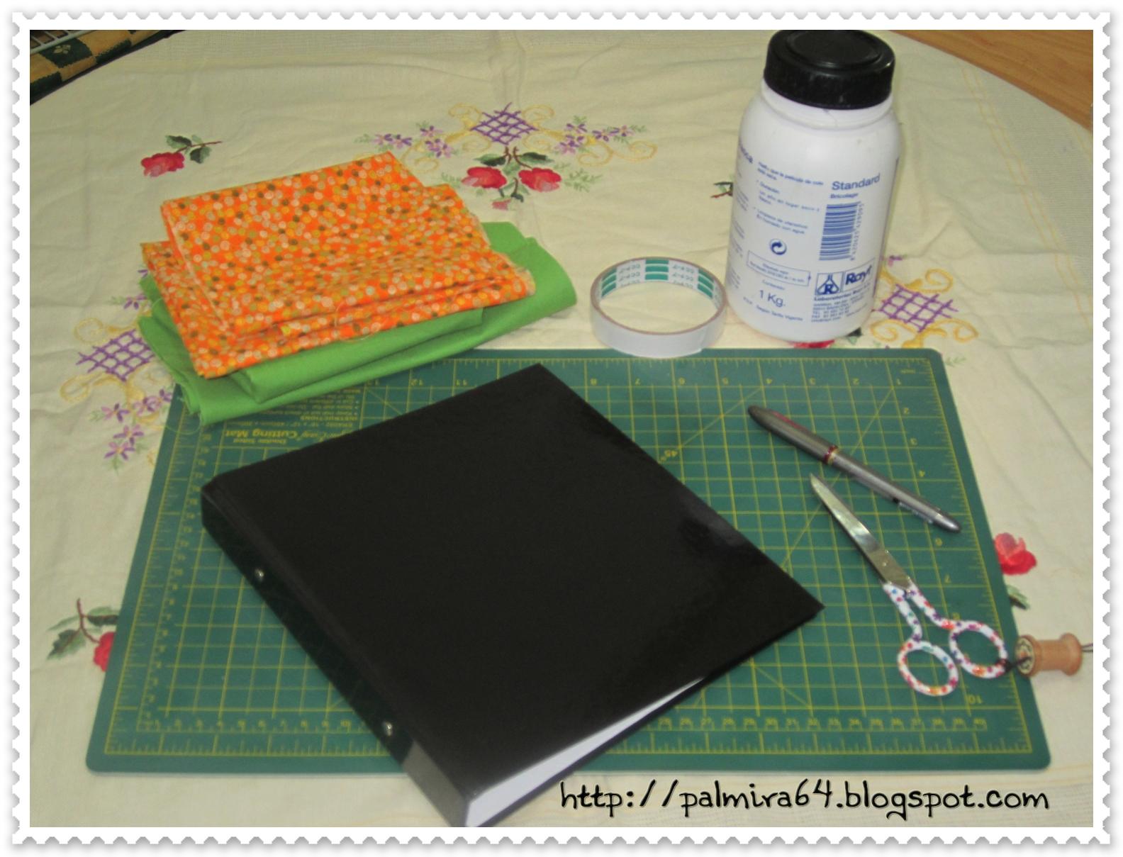 Mis pasiones passiflora como forrar archivador o bloc - Como forrar muebles con tela paso a paso ...